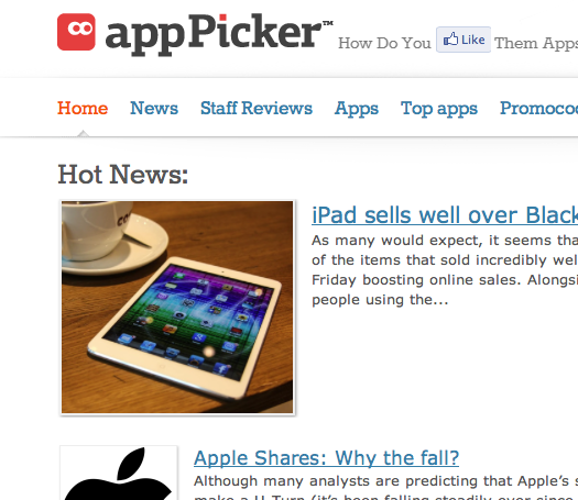 Apppicker.com dives deep into iTunes for developers