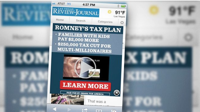 Did mobile ads help Obama get re elected?