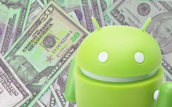 Android app revenue gaining ground