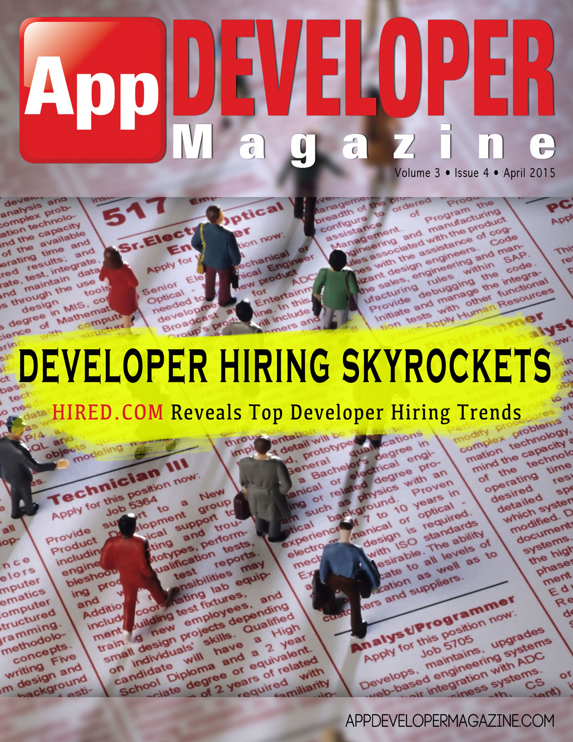 App Developer Magazine April 2015 Cover