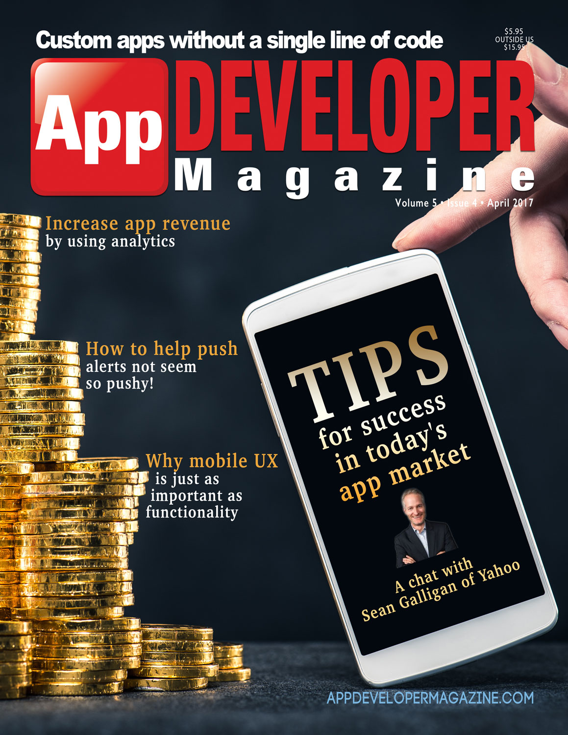 App Developer Magazine April 2017 Cover