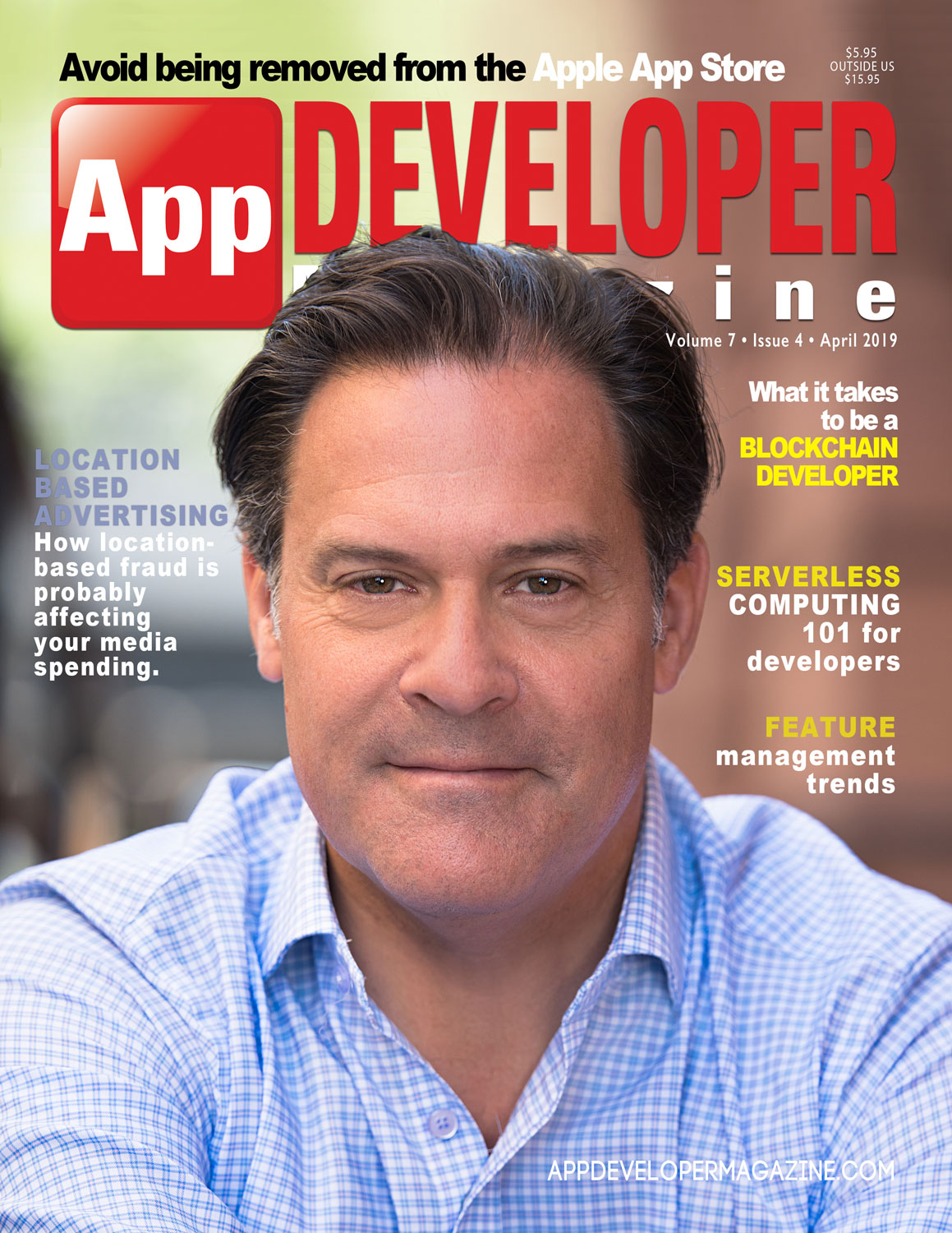 App Developer Magazine April 2019 Cover