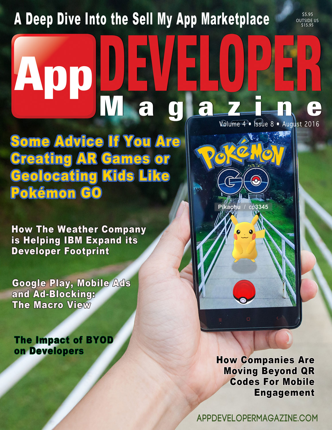 App Developer Magazine August 2016 Cover