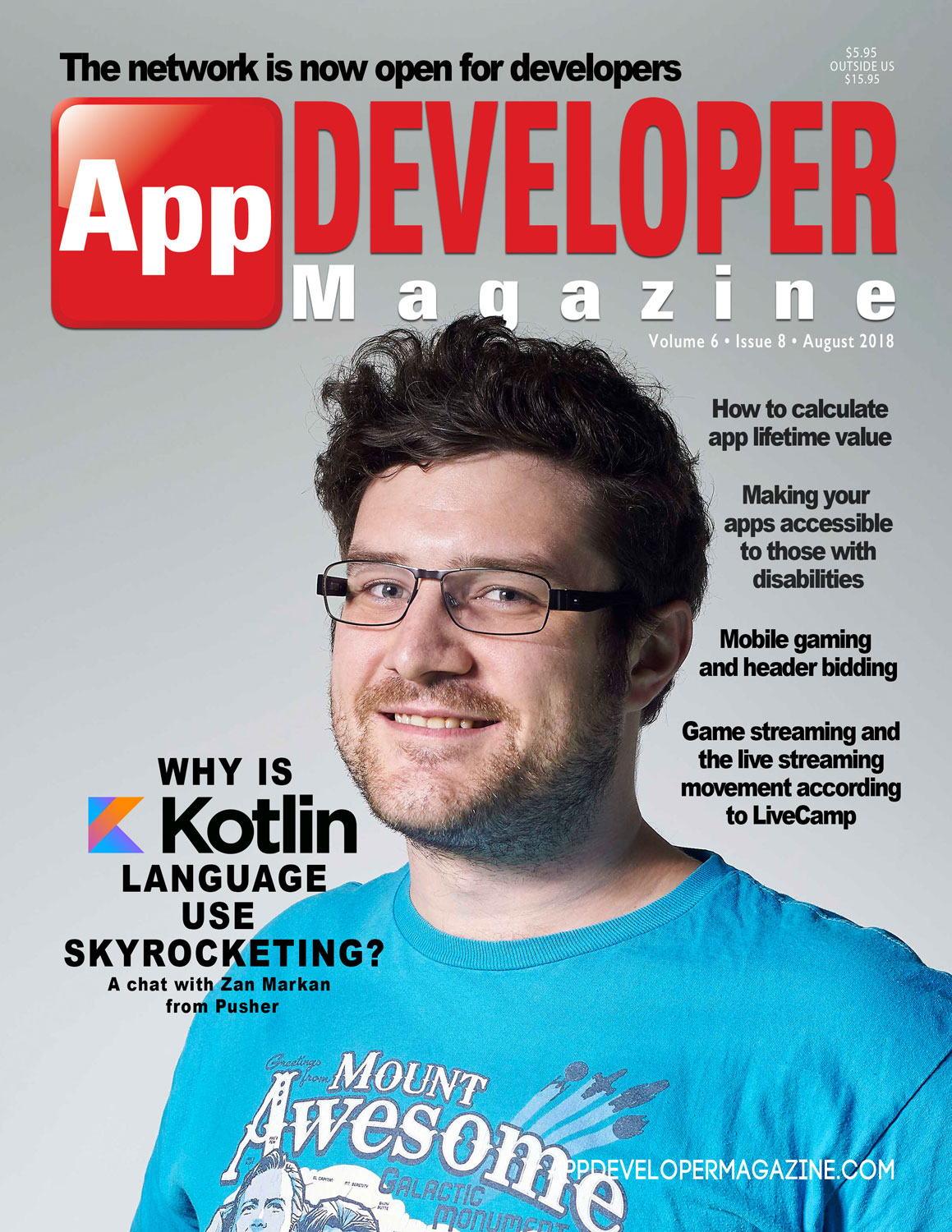 App Developer Magazine August 2018 Cover