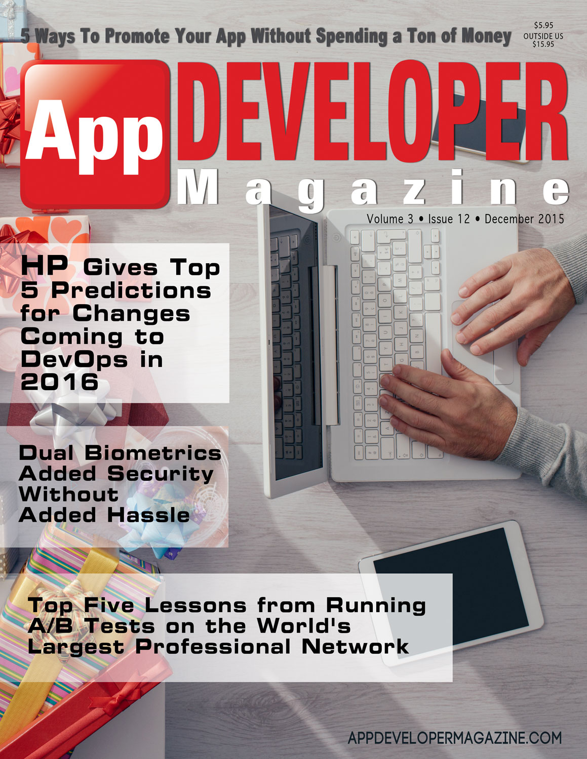 App Developer Magazine December 2015 Cover