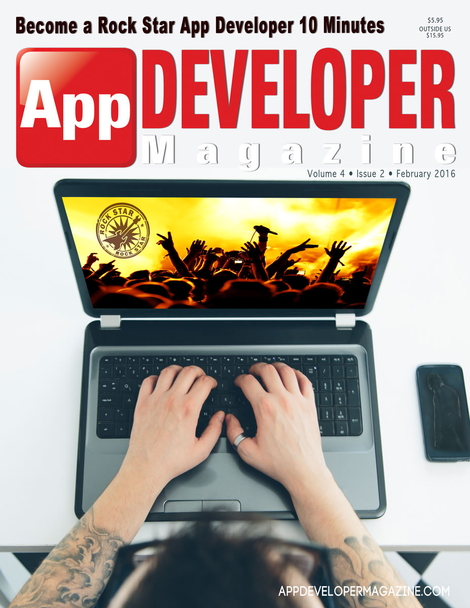 App Developer Magazine February 2016 Cover