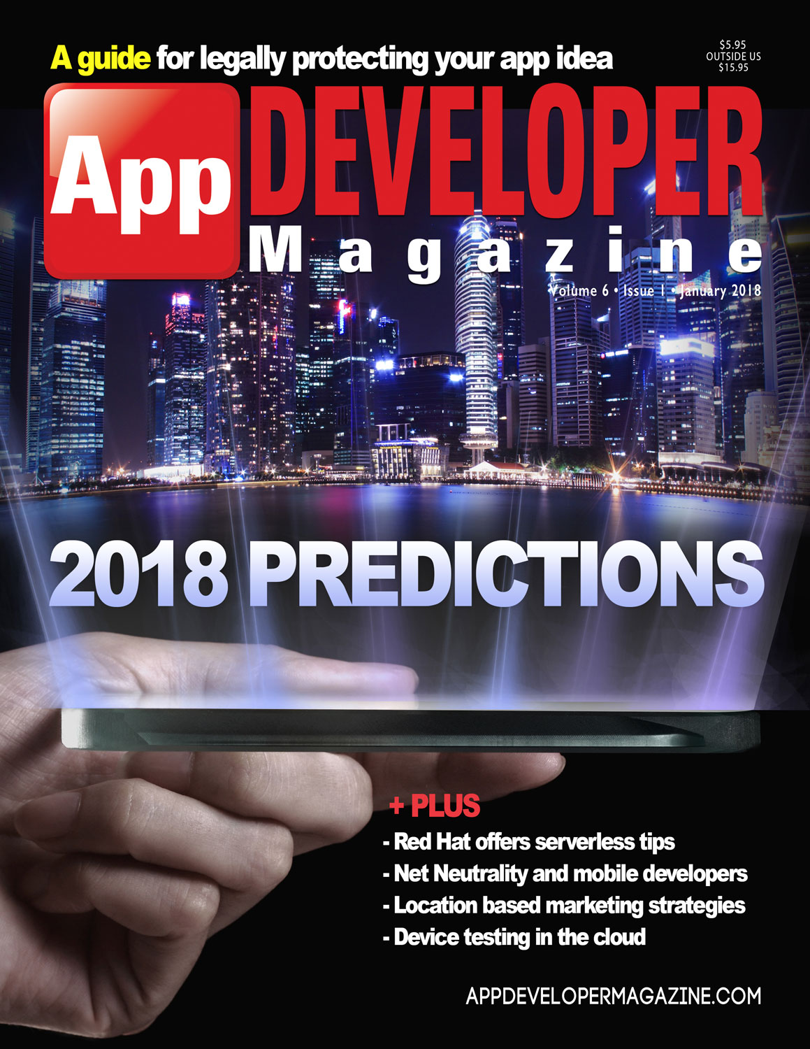App Developer Magazine January 2018 Cover