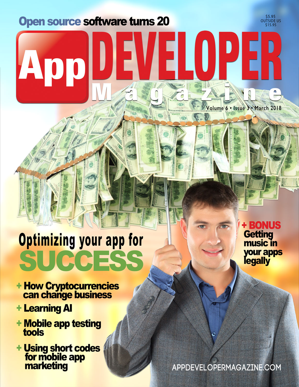 App Developer Magazine March 2018 Cover
