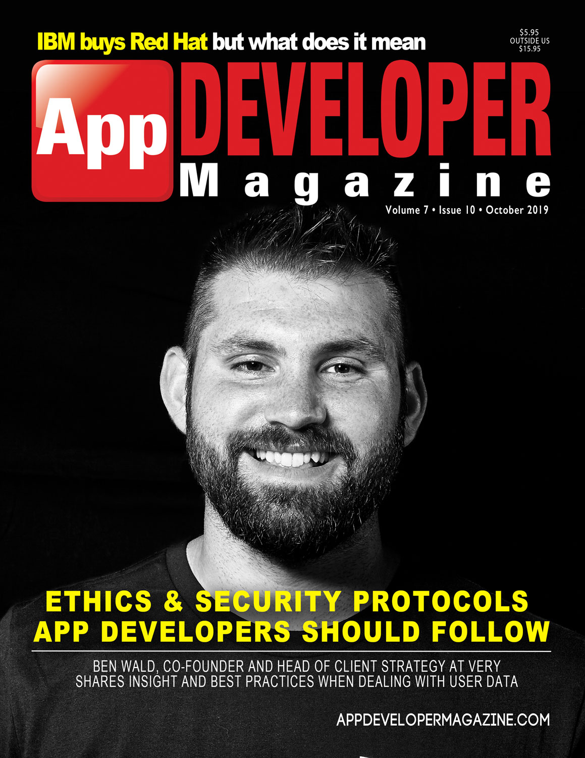 App Developer Magazine October 2019 Cover