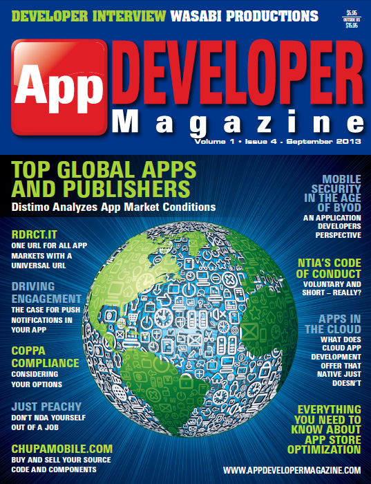 Read App Developer Magazine Sept13 issue