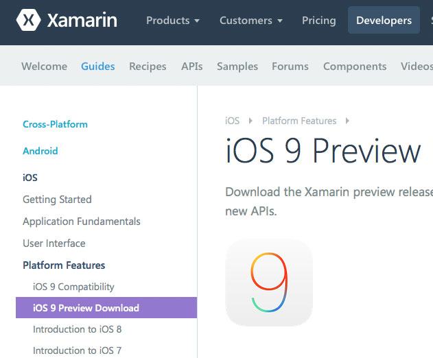 Xamarin iOS 9 Now in Preview