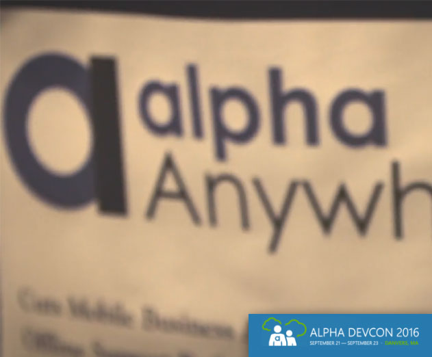 Alpha Software Will Host Alpha Anywhere DevCon 2016 September 21 - 23
