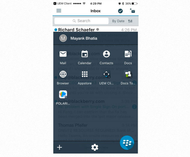 The BlackBerry Dynamics Launcher makes enterprise mobility relevant