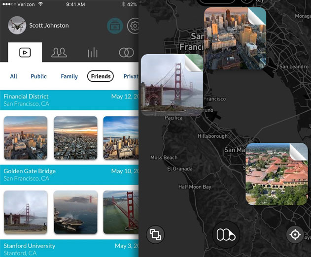 Memery launches a new drone video app called Dragonfly