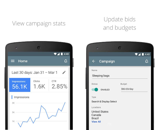 Google Releases AdWords App to Manage Ad Campaigns