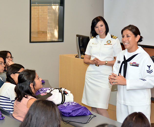 Navy participates in STEM event during Hispanic heritage month