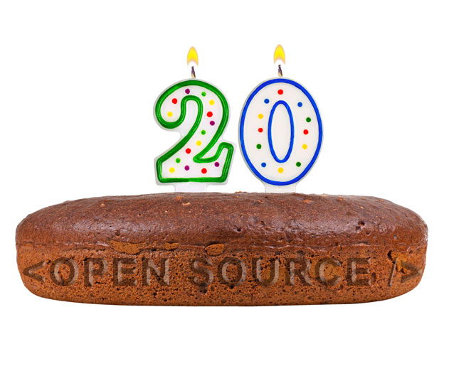 Open source software turns 20