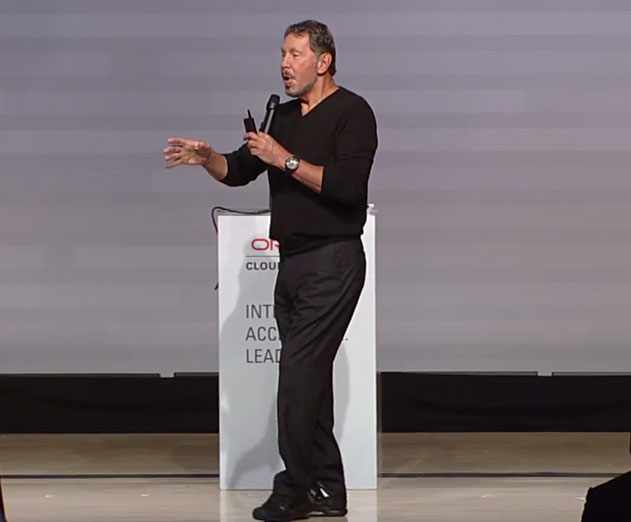 Larry Ellison from Oracle unviels new cloud changes