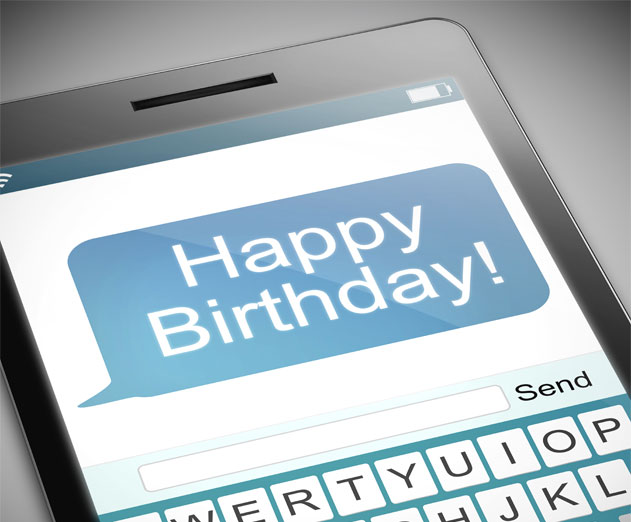 Happy Birthday SMS Messaging!