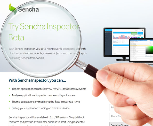 Beta Sencha Inspector Release Debugs Ext JS Applications