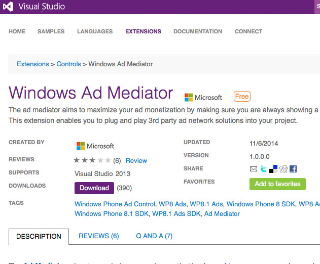 Windows Mobile App Ad Mediation Solution Now Available