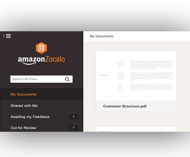 Amazon Web Services Announces the General Availability of Zocalo Document Storage and Sharing Service
