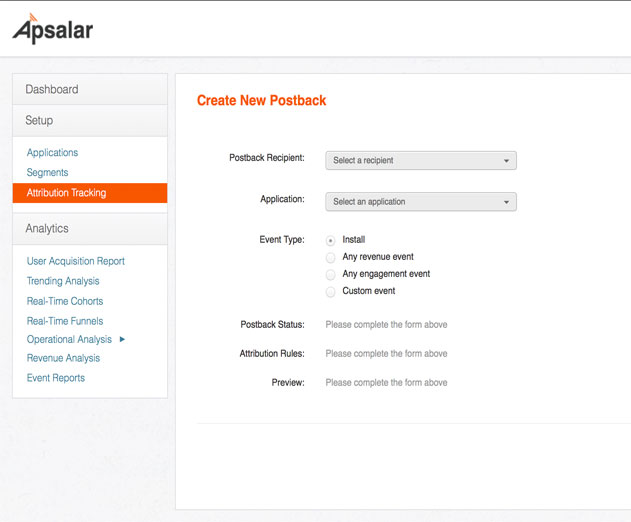 Track App Events with New Apsalar Self Service Postback Tool
