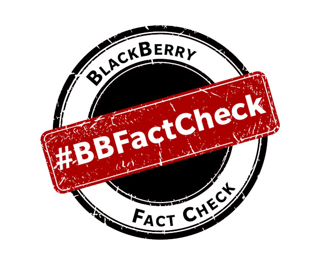 BlackBerry Takes Swing at Competitors with BlackBerry Fact Check Portal