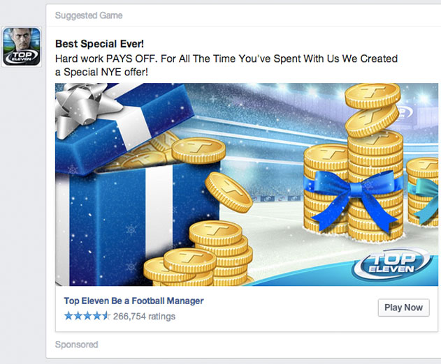 Facebook Now Allows Direct News Feed Sales of Virtual Goods for Desktop Games