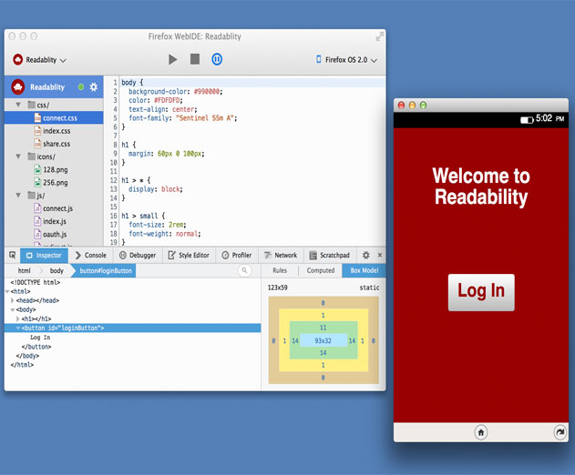 Mozilla's WebIDE Offers Developers In Browser Building and Editing Features to Create HTML5 Apps