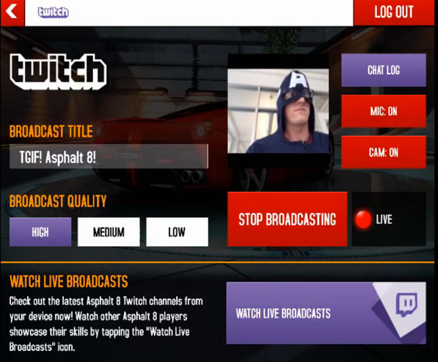 Twitch Partners with Gameloft for First Ever Mobile Streaming Experience