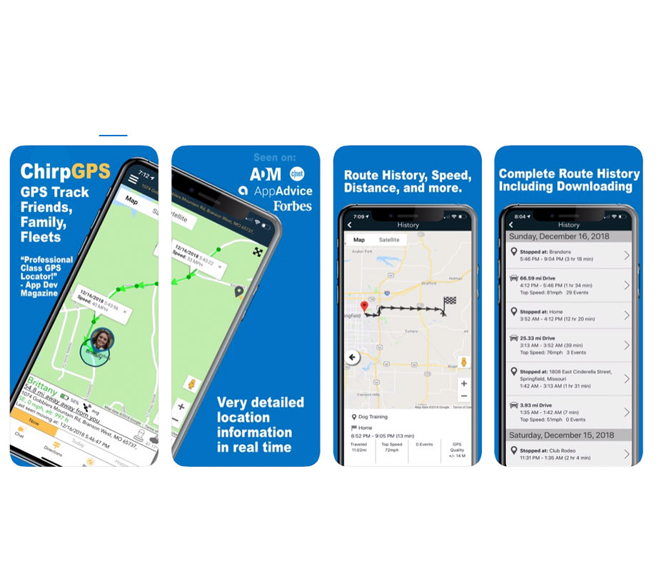 GPS fleeting tracking app Chirp GPS