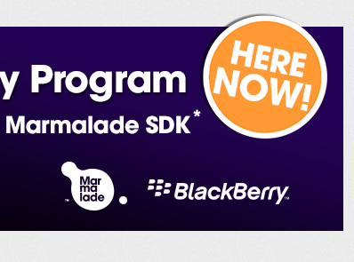 Marmalade Giving Away Free SDK Licenses for BlackBerry 10