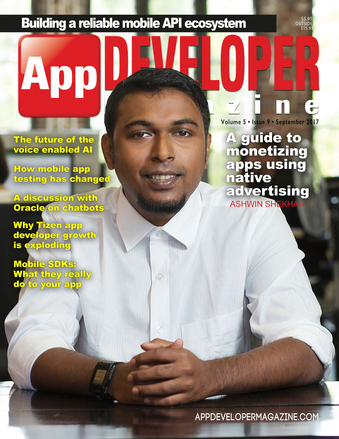 App Developer Magazine September-2017 for Apple and Android mobile app developers