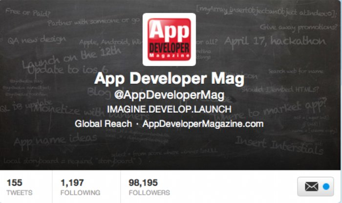 App Developer Magazine hits 100k Twitter followers | ADM