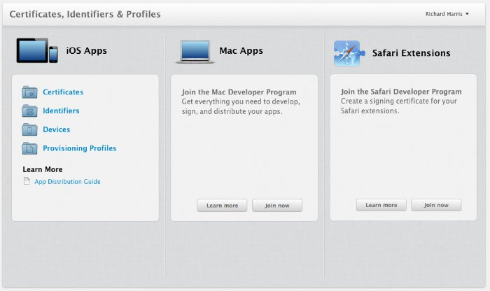 Apple Dev Center gets a Unified View of Certificates and More