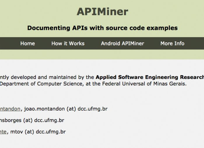 APIMiner now has thousands of Android source code examples