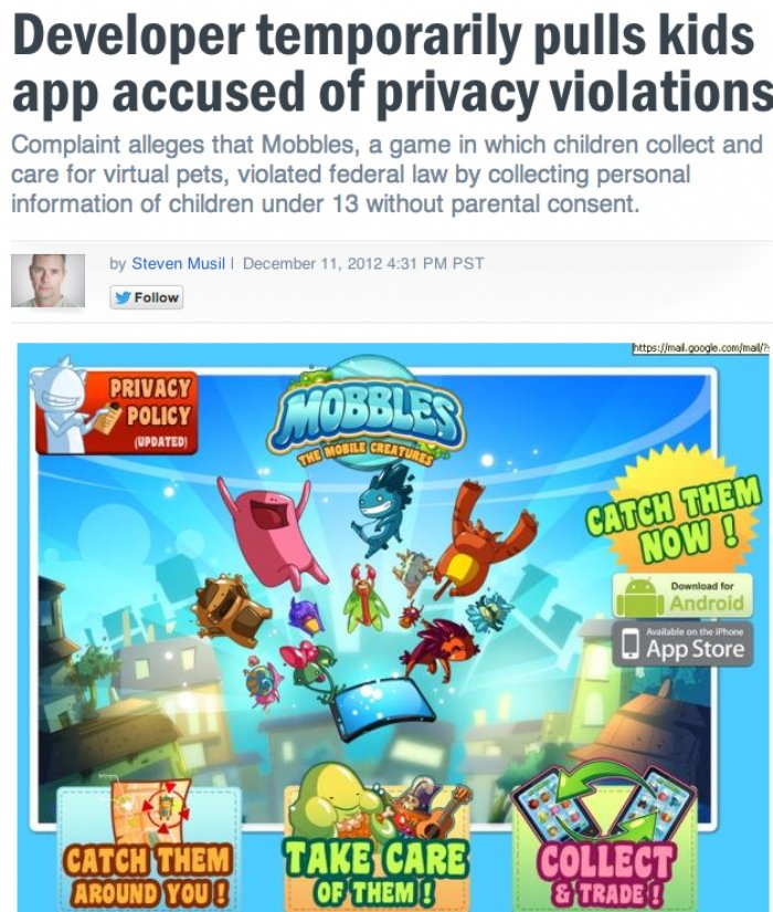 FTC complaint causes app developer to temporarily remove apps