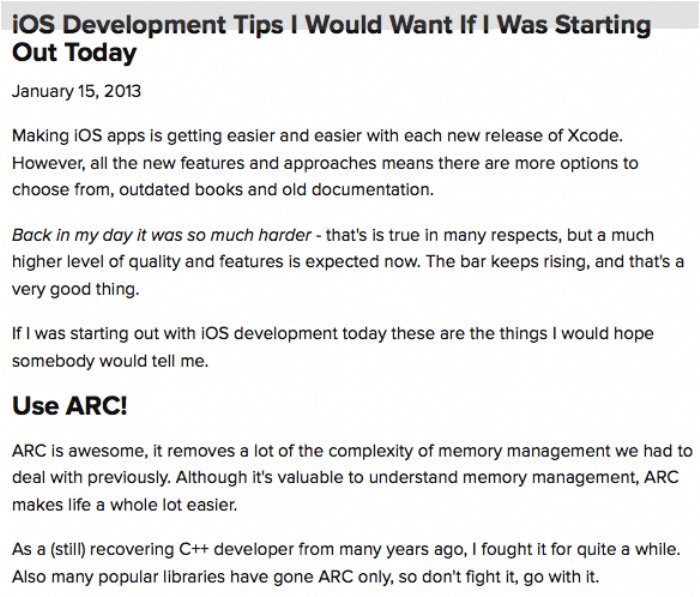 Some iOS Developer Startup Tips