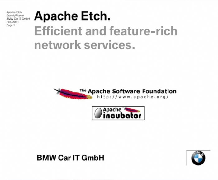Apache Etch 1.4.0 Introduces Improvements for C++ Binding