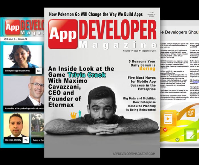 Our 40th Issue Published Today: App Developer Magazine September 2016