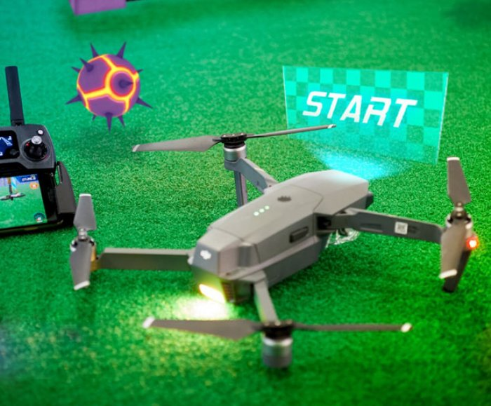 An augmented reality game for DJI drone users