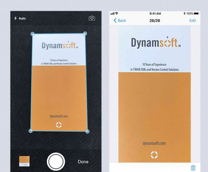 Dynamsoft Camera SDK for iOS debuts for easier document scanning