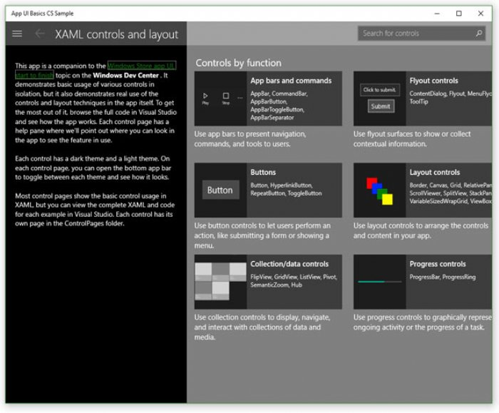 Microsoft Provides Sample Features and APIs for Universal Windows Apps