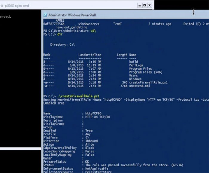 Microsoft Shows Docker Some Love with New Windows Server Containers