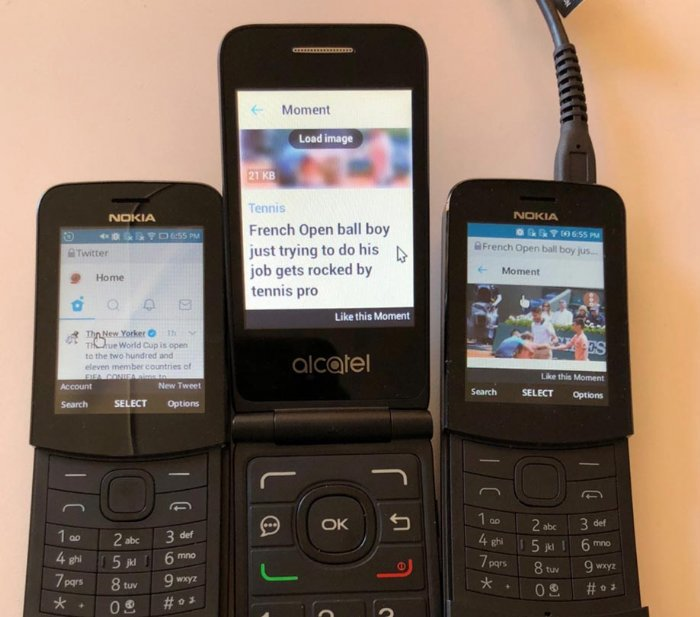Twitter and KaiOS take on KaiOSpowered smart feature phones