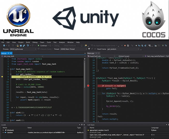 Visual Studio Now Supports Game Development for Unity 5, Epic Unreal 4 and Cocos2d
