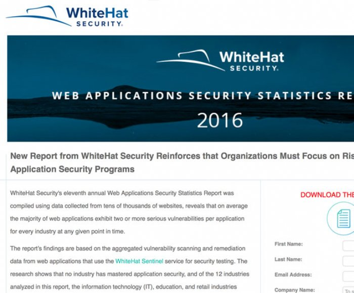 WhiteHat Web Applications Security Statistics Report Highlights Chronic Vulnerabilities