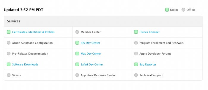 Many Apple Developer Services Return