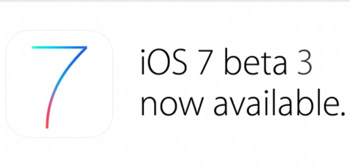 iOS7 Beta 3 is out